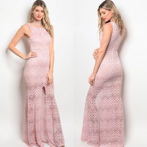 Dresses & Skirts - 🌸🌸BLUSH LACE MAXI DRESS🌸🌸